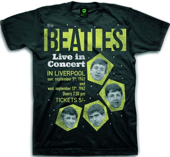 T-SHIRT THE BEATLES LIVE IN CONCERT - IN LIVERPOOL