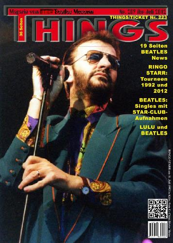 BEATLES: Fan-Magazin THINGS 209