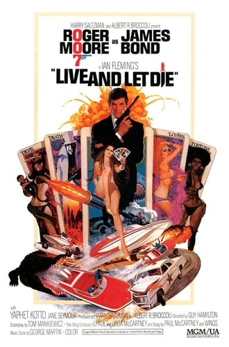 (PAUL McCARTNEY) Poster LIVE AND LET DIE