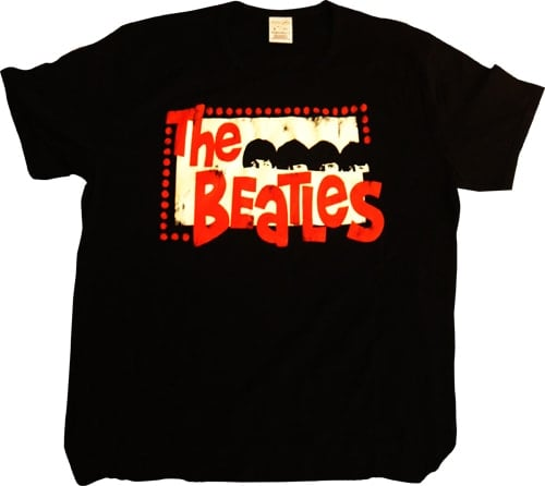 BEATLES T-Shirt A HARD DAY'S NIGHT LOGO 1984 ON BLACK